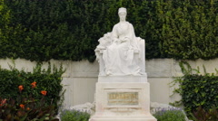Monument of Empress Sissi Elisabeth in Vienna. Closeup Stock Footage