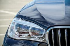 The headlights (lens) car, front camera location in the daytime Stock Photos