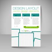 Site layout for design - flyer - stock illustration