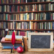 Bookshelf - stock photo