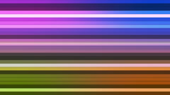 Broadcast Twinkling Horizontal Hi-Tech Bars, Multi Color, Abstract, Loopable, HD Stock Footage