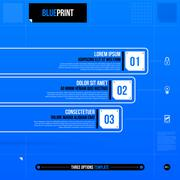 Vector chart template in blueprint style. EPS10 - stock illustration