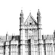 In london old historical    parliament glass  window    structure and sky Stock Photos