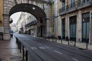 Stock Photo of Rua de S. Paulo Street in Lisbon