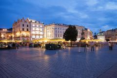 Stock Photo of Krakow Main Square by Night