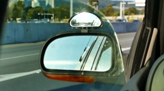 Car Driving - Side Mirror - 01 - Day Highway Stock Footage