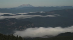 Mt St Helens Clouds - stock footage