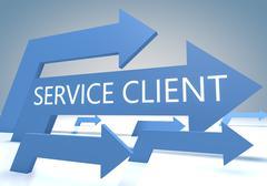 Service Client Stock Illustration