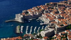 Dubrovnik in southern Croatia Stock Footage