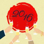 Celebrating poster Stock Illustration
