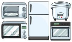 Electronic equipment used in kitchen Piirros