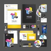 Corporate identity template color company style for brandbook Stock Illustration