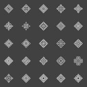 Geometric icons set Stock Illustration
