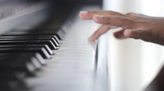 basic piano finger exercises - stock footage