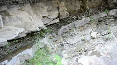 Rock, the rock in a section. Stock Footage