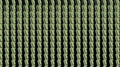 4k Zipper capsule shape background,textiles material,armor weaving,3d printing. Stock Footage