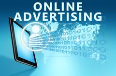 Online Advertising Stock Illustration
