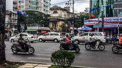 Busy traffic in the street,Ho Chi Minh City, Vietnam. Stock Footage