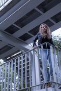 Sick girl trying to jump Kuvituskuvat