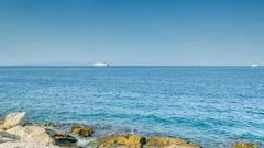 Sea Rocky Seashore Time Lapse Stock Footage