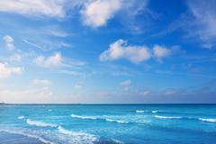 Denia mediterranean blue sea with aqua water - stock photo