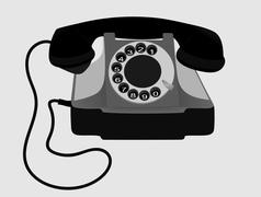 Old Retro Phone. Vector. EPS10. - stock illustration