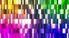 Broadcast Twinkling Hi-Tech Small Bars, Multi Color, Abstract, Loopable, HD Stock Footage