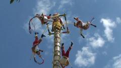 Voladores de papantla ritual indian dance. Mexico. - stock footage