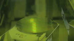 Silicon wafer production in a Semiconductor manufacturing plant Stock Footage