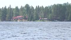 Vacation resort in Algonquin Park, Ontario Stock Footage