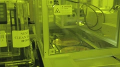 Semiconductor manufacturing plant - stock footage