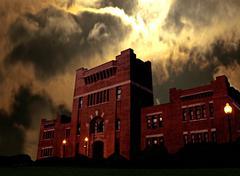 armory at night - stock photo
