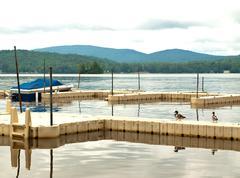 Adirondack docks Stock Photos