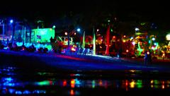 Nightlife on a beach on Phi Phi Island, a popular tourist destination Stock Footage