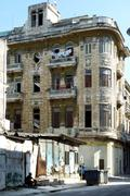 havana, typical house and street in decay - stock photo