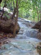 Erawan waterfal Stock Photos