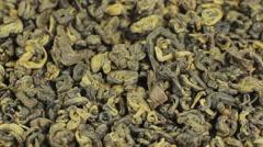 Green tea backdrop close up rotation Stock Footage