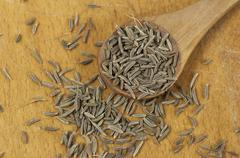 Caraway (Carum carvi) seeds - stock photo