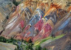Colorful clay in the Altai Mountains Stock Photos