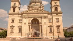 Time Lapse St Stephan Basilica in Budapest by day Stock Footage