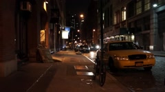 Dimly lit New York alley - stock footage