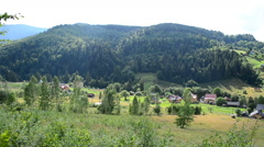 Shooting in the Carpathians - stock footage