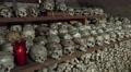 4k Skulls panning in Charnel House at Hallstatt Austria 4k or 4k+ Resolution