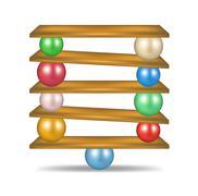 Balanced balls  Stock Illustration
