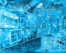 cyberspace - stock illustration