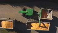 Stock Video Footage of unloading grain into truck