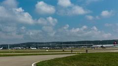Timelapse - Zurich International Airport, Midfield. Switzerland. Stock Footage