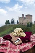White truffles from Piedmont Italy - stock photo