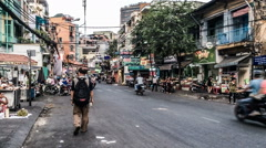 The street view of Ho chi minh city, Vietnam. Stock Footage
