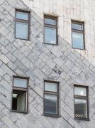 Gray marble facing diagonally Stock Photos